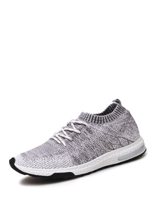Picture of Men's Running Shoes Damping Comfy Skidproof Low Cut Flyknit Air Cushion Shoes - Size: 43
