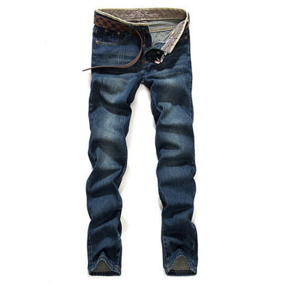 Picture of 087 large size fat pants men's fashion straight denim trousers for labor pants - Size: 32