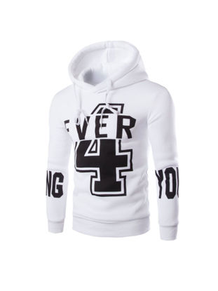 Picture of Men's Hoodie Long Sleeve Hooded Number Print Cozy Pullover - Size: M