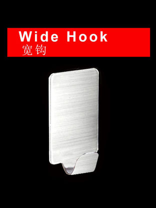Picture of 8Pcs Wall Racks Self Adhesive Stainless Steel Bathroom Kitchen Door Hanger Hooks - Size: One Size