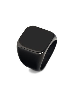 Picture of Men's Glossy Titanium Ring Simple Retro Ring Male Jewelry - Size: 7