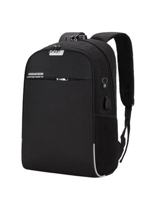 Picture of Men's Backpack Pickproof With Audio Jack Multifunctional Back Bag - Size: One Size