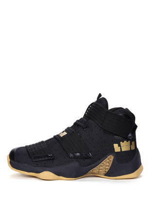 Picture of Men's Basketball Shoes Trendy High-Top Comfy Breathable Sports Training Shoes - Size: 42