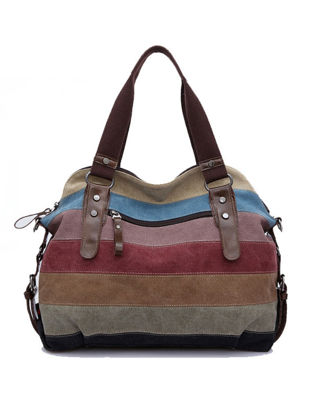 Picture of Women's Handbag Colorful Vintage All Match Chic Bag - Size: One Size