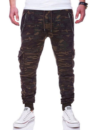 Picture of Men's Fashion Pants Drawstring Waist Brief Design All Match Breathable Pants - Size: 3XL