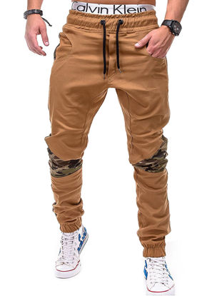 Picture of Men's Casual Pants Mid Waist Breathable All Match Good Quality Pants - Size: M