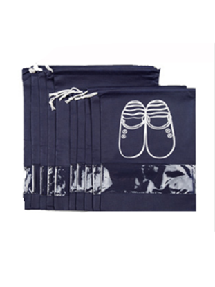 Picture of 10 PcsShoes Storage Bags Drawstring Convenient Storage Products - Size: One Size