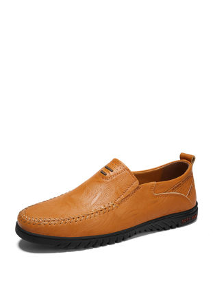 Picture of Men's Comfy Leather Loafers All Match Breathable Driving Slip-Ons - Size: 42