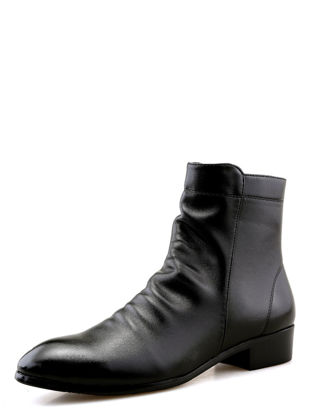 Picture of Men's Boots Vintage Solid Color Pointed Toe Fashion Boots - Size: 43
