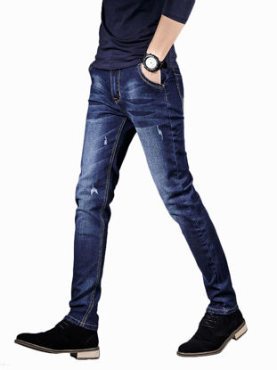 Picture of Men's Fashion Jeans High Quality Slim Casual Business Jeans - Size: 36