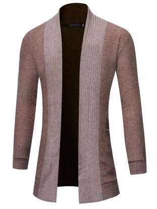 Picture of Men's Cardigan Long Sleeve Fashion Simple Mens Clothing - Size: 3XL