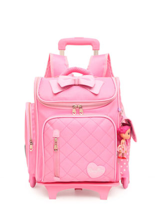 Picture of Girl's Trolley Bag Set Cute Cartoon Pattern Waterproof Fashion Set - Size: One Size
