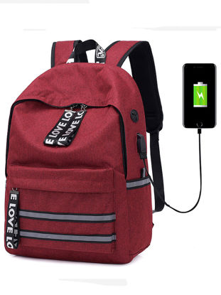 Picture of Men's Backpack Bag Large Capacity Water Proof Versatile Bag - Size: One Size