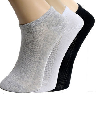 Picture of 10 Pairs Men's Sneaker Socks Casual Mesh Comfy Sports Breathable Ankle Socks - Size: Free