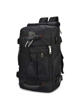 Picture of Men's Travel Bag Solid Color Patchwork Large Capacity Canvas Bag - Size: One Size
