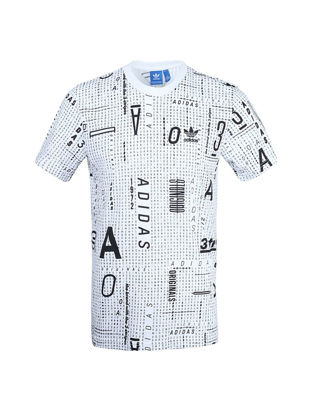 Picture of [100% Genuine]Adidas Originals Men's T-Shirt Stylish Letters Pattern Good Quality O Neck Comfy Breathable Top - Size: L
