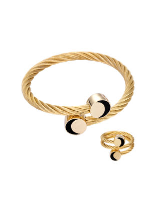 Picture of Women's Bracelet & Ring Set Charming All Match Elegant Accessory - Size: One Size