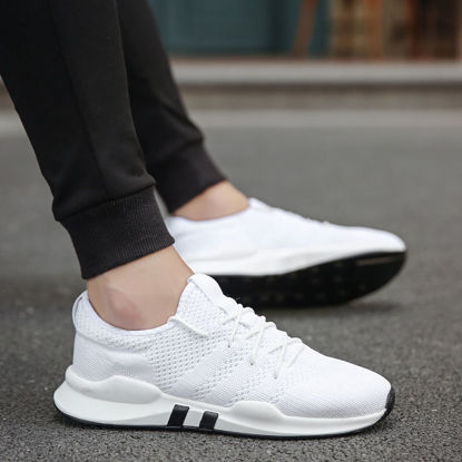 Picture of Men's Sports Fashion Shoes Breathable Light Weight Lacing Running Shoes - Size: 41