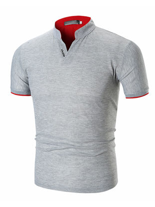 Picture of Men's Polo Shirt Casual Letter Short Sleeve Top - Size: XXL