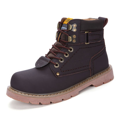 Picture of Men's Martin Boots Round Toe Retro High Quality Lacing-up Anti-skidding Shoes - Size: 42
