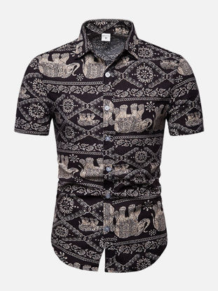 Picture of Men's Shirt Fashion Casual Print Top - Size: 4XL
