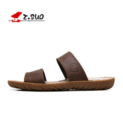 Picture of Z SUO Men's Open Toe Slippers Anti-skidding Retro Style Beach Shoes - Size: 41