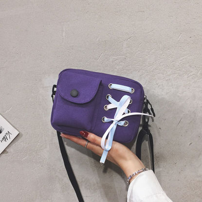 Picture of Women's Crossbody Bag Solid Color Bow Casual Bag - Size: One Size