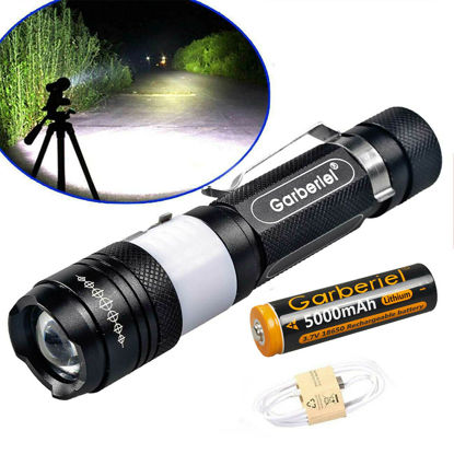 Picture of T660 Portable Flashlight With USB Charging With Battery - Size: One Size
