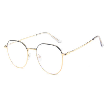 Picture of Men's Eyeglasses Light Weight Metal Frame Plain Glasses Accessory - Size: One Size