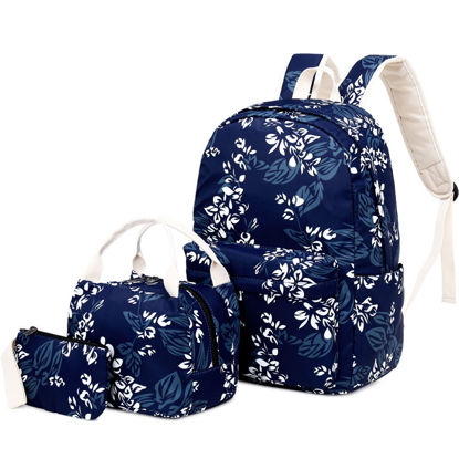 Picture of Women's Backpack Sets Waterproof Floral School Back Bags Sets - Size: One Size