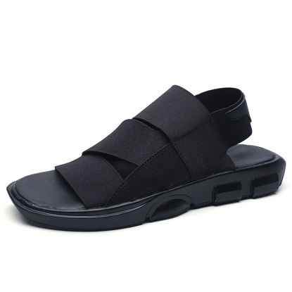صورة Men's Sandals Fashion Lightweight Solid Color Anti-Skidding Shoes - Size: 41