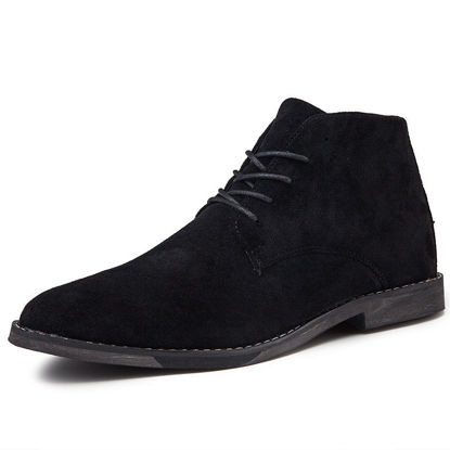 صورة Men's Chelsea Boots Lacing Simple Solid Color Casual Shoes - Size: 40