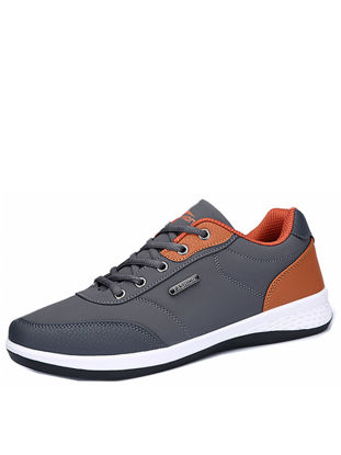 صورة Men's Sports Shoes Fashion Solid Color Breathable Skidproof Comfy Shoes - Size: 43