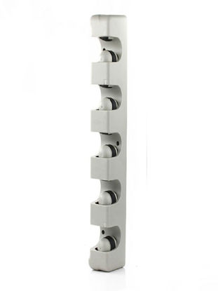 Picture of 2Pcs Wall Mounted Storage Rack Multi Functional Practical Mops Holder - Size: One Size