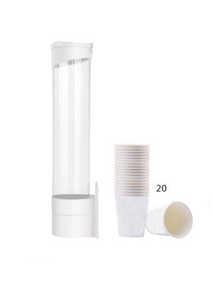 Picture of Paper Cup Holder Office Home Disposable Cup Convenient Storage Box - Size: One Size