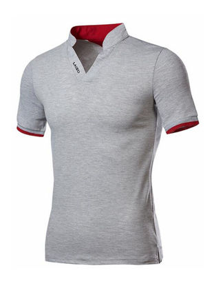 Picture of Men's Polo Shirt Color Block Short Sleeve All Match Stylish Top - Size: 4XL