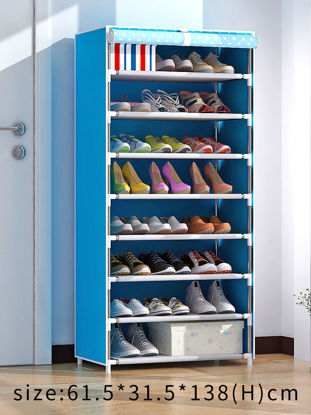 Picture of Household Shoe Cabinet Multi-Layer Dust-Proof Practical Shoe Container - Size: One Size