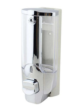 Picture of 1Pc Wall Mount Liquid Soap Shampoo Dispenser With Lock Single Head For Bathroom - Size: One Size