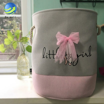 Picture of 1Pc Home Toys Storage Bucket Cartoon Decor Canvas Laundry Bucket - Size: One Size
