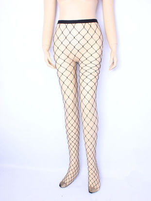 Picture of Women's Tights Slim Elastic Hollow Out Mesh Cosplay Sexy Lingerie Fancy Stockings - Size: Free