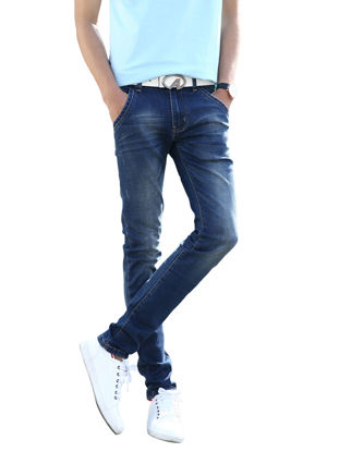 Picture of Men's Jeans Slim Breathable Leisure All Match Cozy Pants - Size: 33