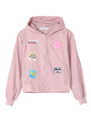 Picture of Women's Bomber Jacket Appliques Casual Outwear - Size: L
