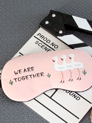 Picture of 1 Pc Eye Mask Cartoon Flamingo Pattern Light Breathable Hot and Cold Compress Eyeshade