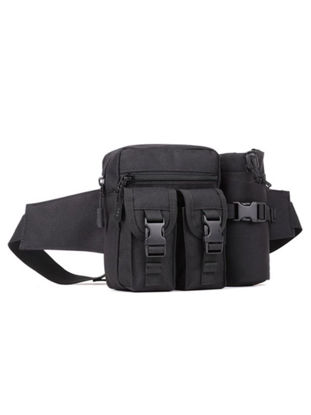 Picture of Men's Travel Bag Tactical Style Hiking Water Bottle Slot Design Belt Waist Pouch Bag - Size: One Size
