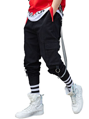 Picture of Men's Casual Pants Solid Color Leisure Style Fashion Leisure Trousers - Size: XL