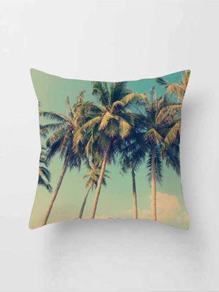 Picture of Back Cushion Cover Fashion Tropic Plant Pattern Modern Style Decorative Square Pillowcase - Size: One Size