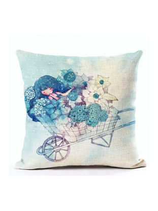 Picture of Decorative Cushion Cover Cartoon Pattern Bedroom Sofa Pillowcase - Size: 45*45(W*L)cm