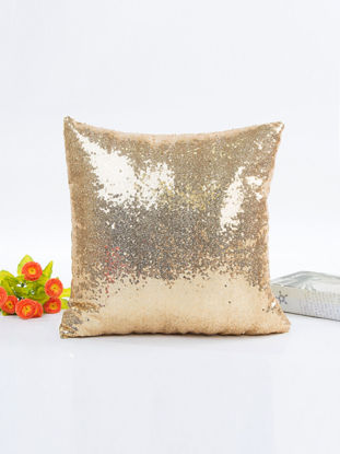 Picture of Cushion Cover Modern Solid Color Sequin Sofa Car Office Decorative Pillowcase - Size: 40*40(W*L)cm