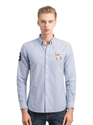 Picture of U.S. Polo Assn. Men's Shirt Fashion Simple Turn Down Collar All Match Top - Size: S
