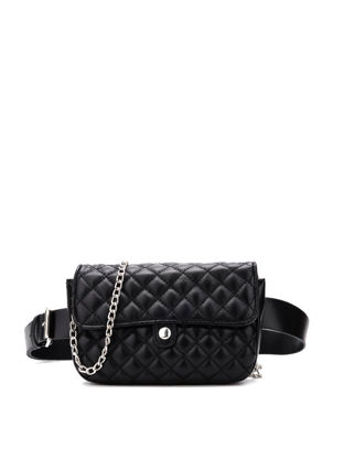Picture of Women's Waist Bag Solid Color Versatile Stylish Chain Bag - Size: One Size